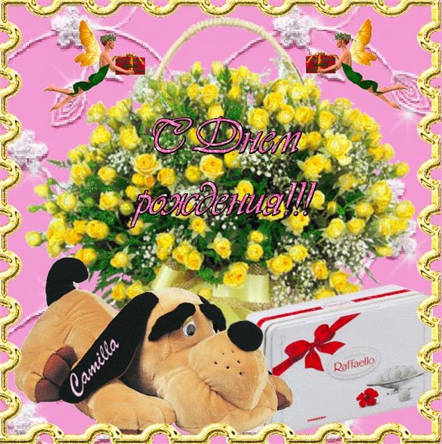 С днем рождения камила картинки красивые бю